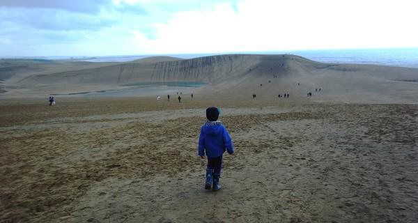 鳥取砂丘が近場ということは、西に来たことを感じさせます。