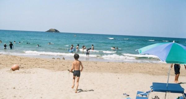 鳥取の海で